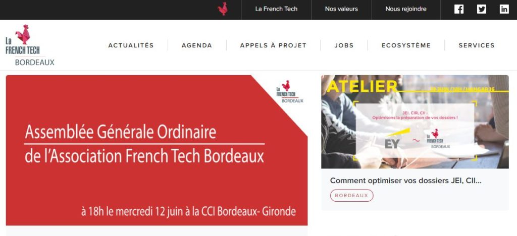 Site French tech bordeaux