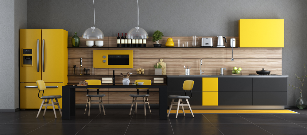cuisine jaune éclatante