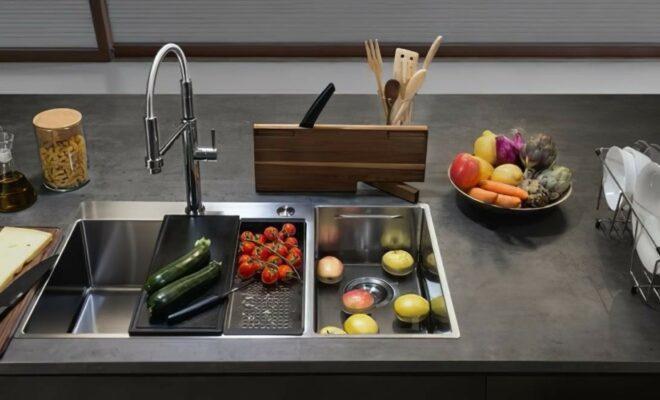 des éviers de cuisine modernes