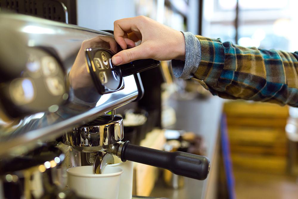 machine à sous dans café