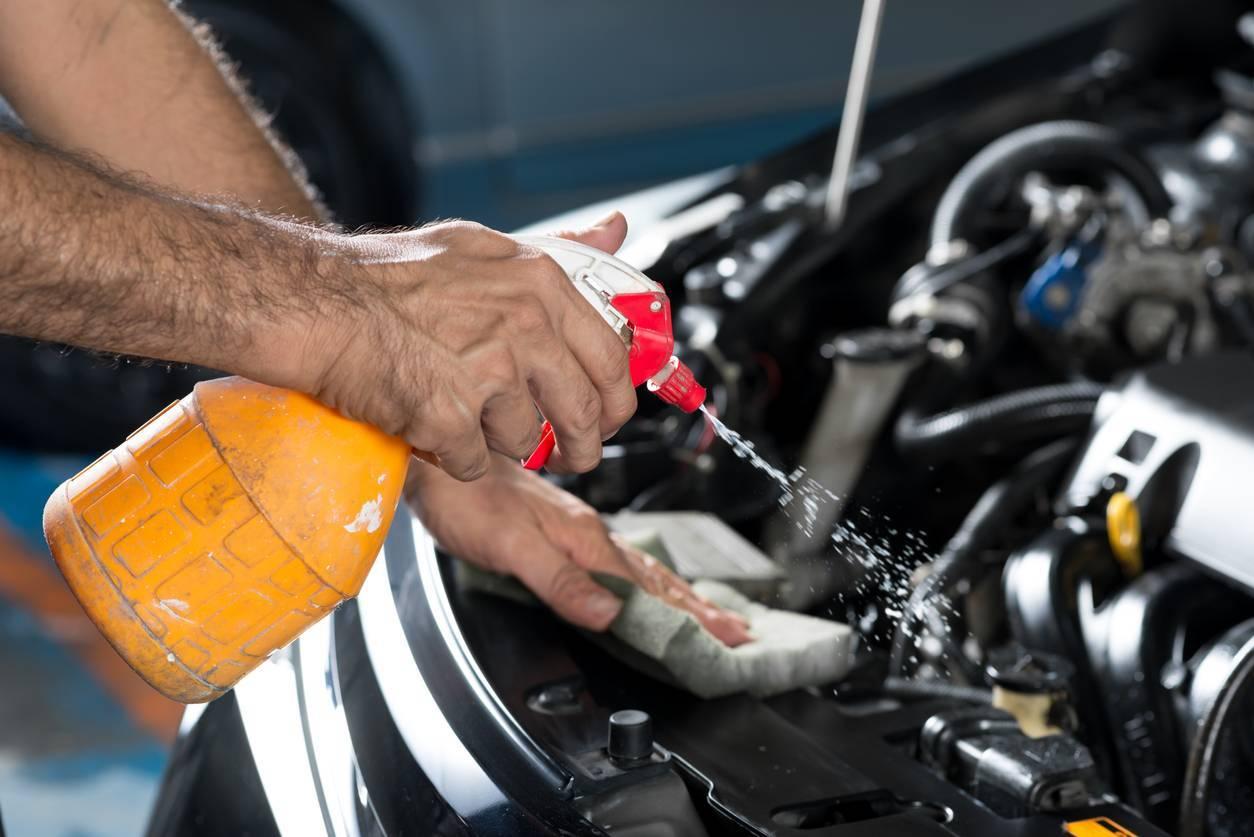 Nettoyage moteur solvant