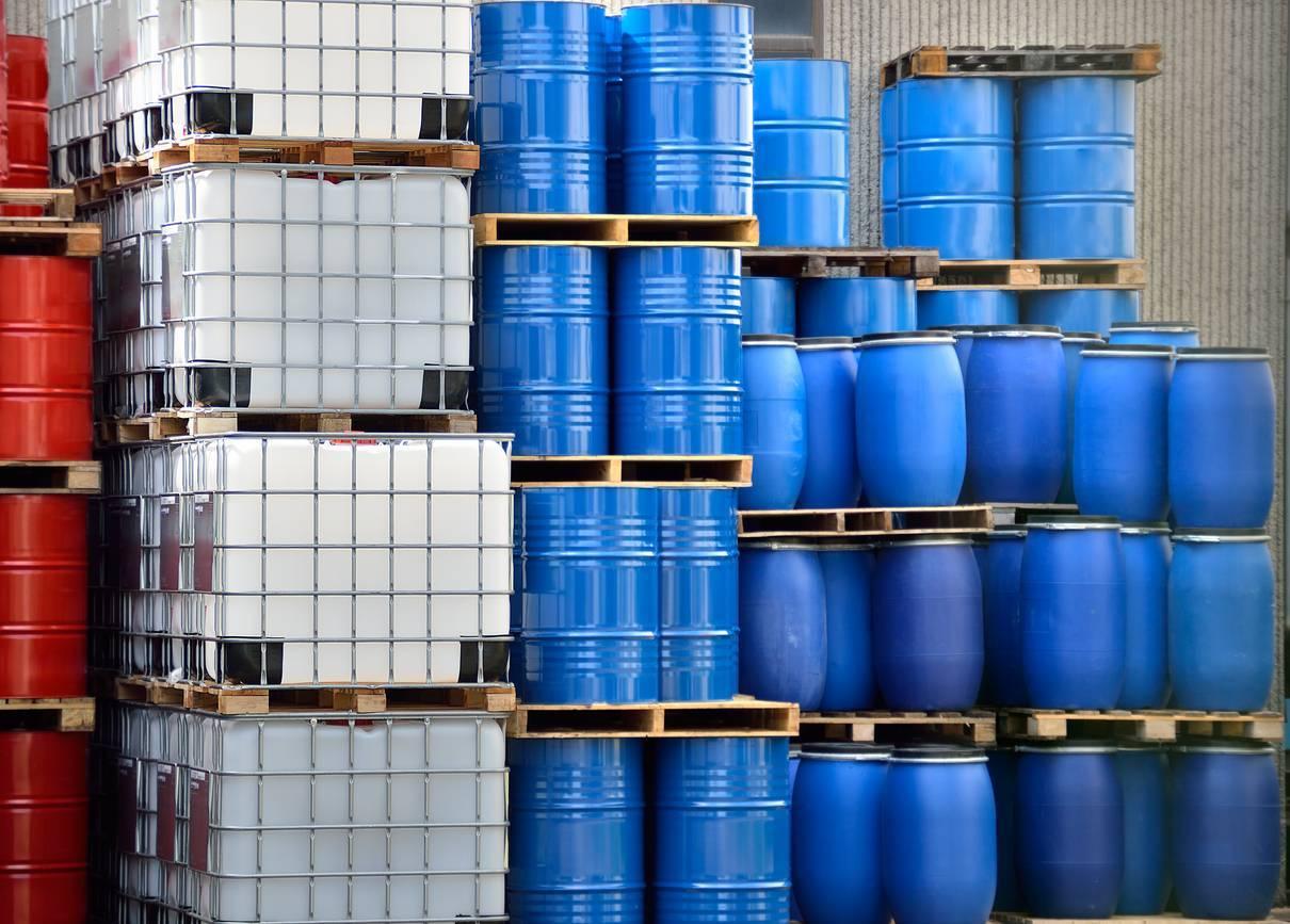 bac de rétention pour stockage de produits chimiques